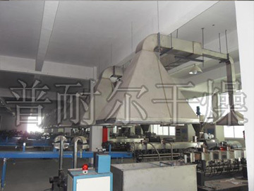 Workshop exhaust system, workshop smoke purification